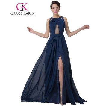 Women Fashion Backless Split Special Long Evening Gown Elegant Special Occasion Dress