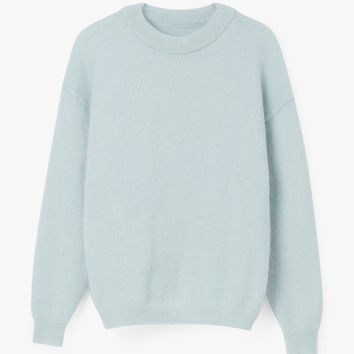 Round Neck Mohair Wool Sweater