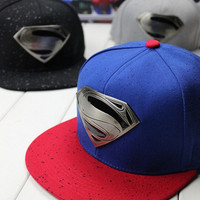 Back Snap Style Hat  Hiphop Snapbacks Short Brim Bone Baseball Cap For Women Men Hip hop superman = 1930158148
