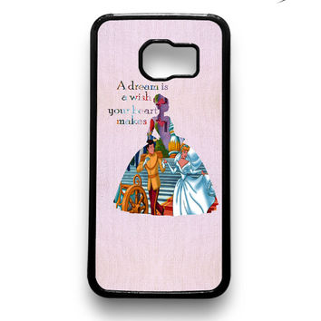 Cinderella Quote Disney Samsung Galaxy S6 & S6 Edge Case Xavanza