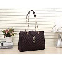 YSL Women Shopping Bag Leather Satchel Crossbody Handbag Shoulder Bag
