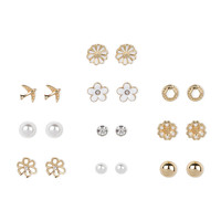 Pretty and Sweet Stud Earrings Set of 10
