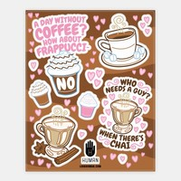 Coffe Lovers Sticker Sheet