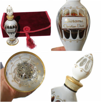 Dior Baccarat Diorama Perfume Bottle White Amphora Bottle 1949 Designer Parfum Flacon Urn Crystal Bottle