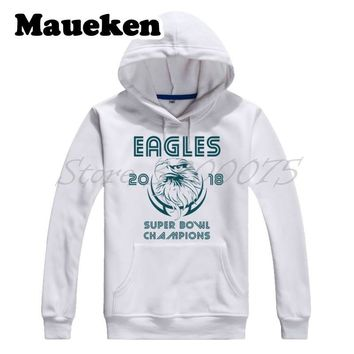 Men Hoodies 2017 2018 Philadelphia Champions Petro Style Sweatshirts Hooded Thick for Eagles fans gift Autumn Winter W18012903