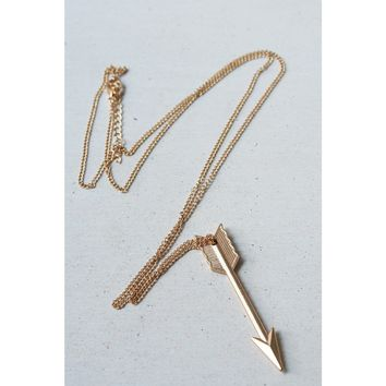 Long Arrow Necklace in Gold