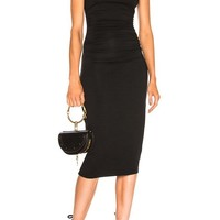 Curving Midi Dress- BLACK