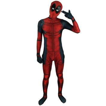 Deadpool Dead pool Taco 3D Marvel Full Body Spandex  Costume x men   Death Costume Lycra Hooded  Cosplay Costume Bodysuit AT_70_6