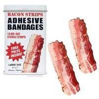 BACON shaped themed Adhesive Bandages