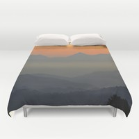 """Sunset at the mountains II"" Duvet Cover by Guido Montañés"