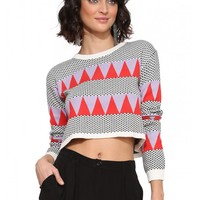 English Factory Vibe Cropped Sweater