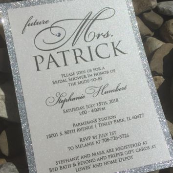 Bridal Shower Invitation - Glitter Bridal Shower Invitations