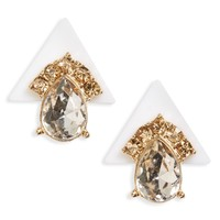 Sole Society Deco Pyramid Stud Earrings | Nordstrom