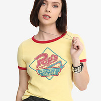 Riverdale Pop's Chock'lit Shoppe Girls Cosplay Ringer T-Shirt Hot Topic Exclusive