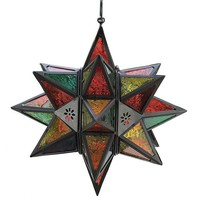 "S/4 14"" Moroccan Star Lanterns"