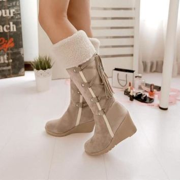 Winter Wedge Snow Boots