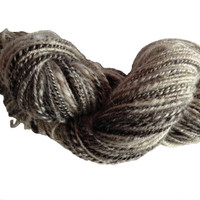 Handspun art yarn, British Jacobs Art Yarn 2 ply to approx Sport thickness Art Yarn, natural, undyed yarn, white, brown, grey, black, 150yds