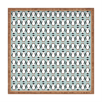 Allyson Johnson Penguin Pattern Square Tray