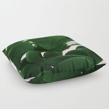 Cactus On Pink Floor Pillow by ARTbyJWP