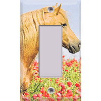 Tan Horse Single Rocker/GFI Cover