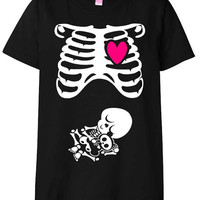 Halloween Maternity TShirt Costume Rib Cage and by meandmy3boys