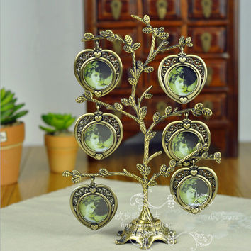 Free shipping Classic family tree metal Photo Frame fashion birthday gift DIY picture frame swing sets home decor accessories