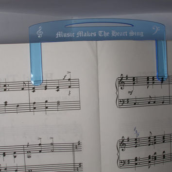 music page holder personalized engraving and  color choice pageholder music book page holder
