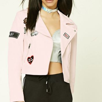 Patch Graphic Moto Jacket