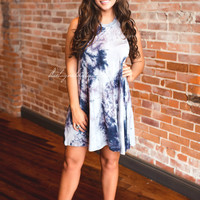 Tie Dye For Dress (navy mix)