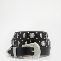 Glamorous | Glamorous Western Belt with Metal Disks at ASOS