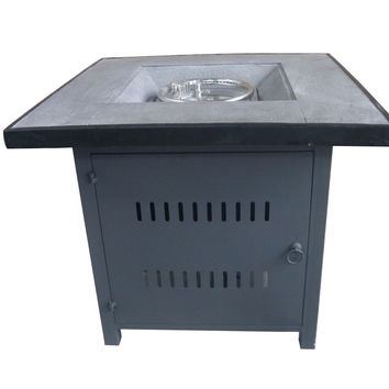 Gray Steel Outdoor Gas Fire Pit