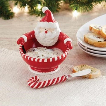 Santa Belt Dip Bowl Set By Mud Pie