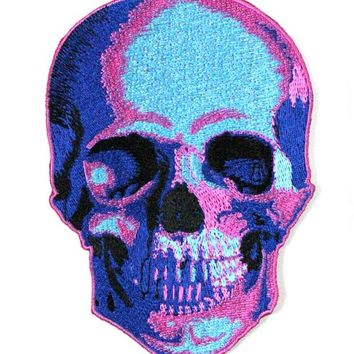 Neon Death Skull Large Patch