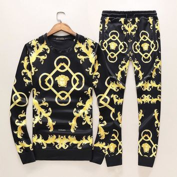 Versace Top Sweater Pullover Pants Trousers Set Two-Piece Sportswear-2