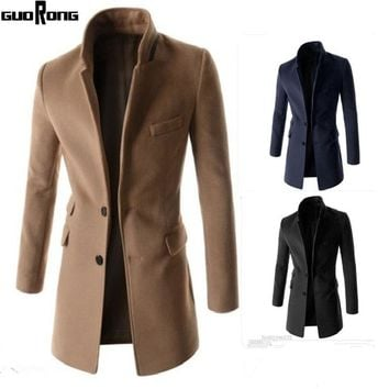 2017 New Arrivals Fashion Business Warm Coats wool & blends Men's Fashion Coat Collar Good Men Coat Trench Coat Winter Overcoat