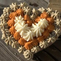 Soap Wedding Favor Orange and green Heart Soap by WeddingFavors