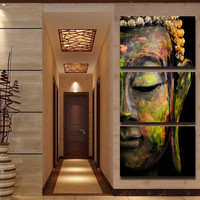 Buddha Oil Painting Wall Art Paintings Canvas Home Decor Unframed