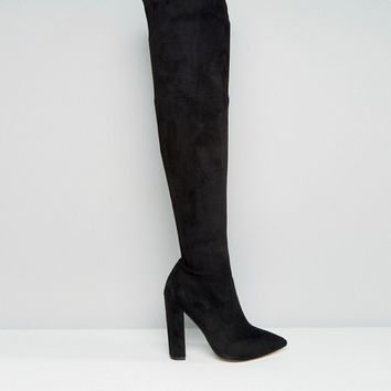 ASOS KARMEN Wide Fit Pointed Over The Knee Boots at asos.com