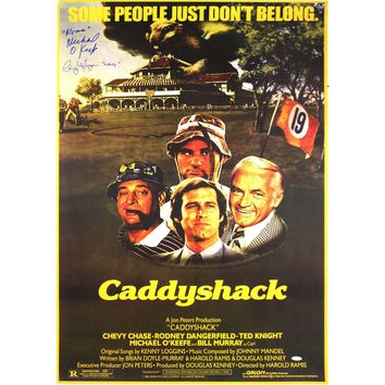 Cindy Morgan Michael Okeefe Dual Signed CaddyShack Movie Poster w Lacey NoonanInsc. 23x35.5
