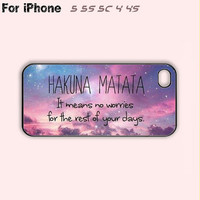 HAKUNA MATATA,iPhone 5 case,iPhone 5C Case,iPhone 5S Case, Phone case,iPhone 4 Case, iPhone 4S Case