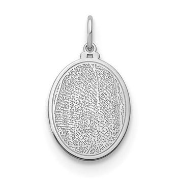 Personalized Engraved Fingerprint Charm Pendant