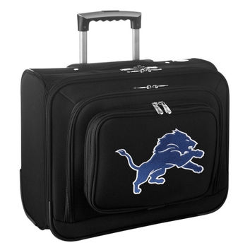 Detroit Lions Carry-On Rolling Laptop Bag - Black - http://www.shareasale.com/m-pr.cfm?merchantID=7124&userID=1042934&productID=540325729 / Detroit Lions