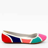 Fenn Color Block Flats in White Multi :: tobi
