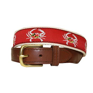 Maryland Flag Crab (Red) / Belt