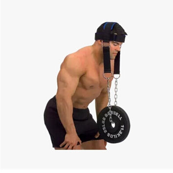 Cowhide head and neck trainers weight bearing cap The shoulder muscle Weight Training Can bring WEight plate