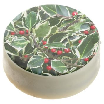 Holly Berry Holiday Chocolate Covered Oreo