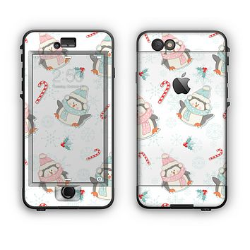 The Christmas Suited Fat Penguins Apple iPhone 6 Plus LifeProof Nuud Case Skin Set