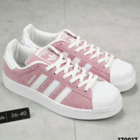 Adidas Shell-Toe Women Sneakers Shoes H-A36H-MY