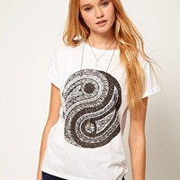 ASOS T-Shirt with Ying Yang Print at asos.com