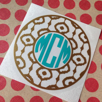 IKat Print Vinyl Decal | IKat Vinyl Decal | IKat Car Decal | IKat | IKat Pattern | IKat Monogram | Monogrammed IKat Decal | Car Decal